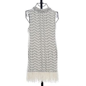 Proenza Schouler Cable Knit Fringed Tunic